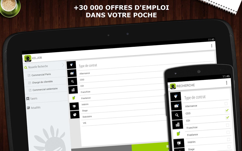 Capture d'écran Keljob Android