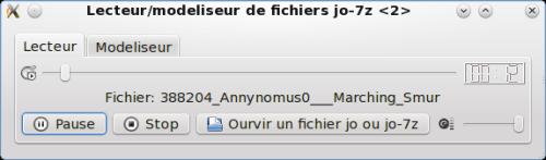 Capture d'écran Le lecteur modéliseur de fichier wav en jo-7z