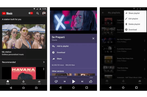 Capture d'écran Youtube Music Android