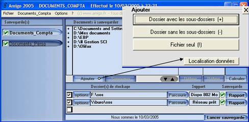 Capture d'écran Amigo Backup