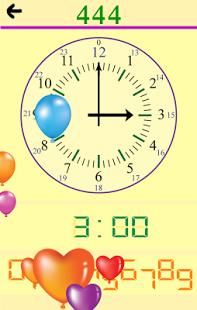 Capture d'écran Lire une horloge