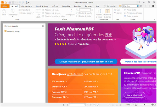 Capture d'écran Foxit Reader Mac