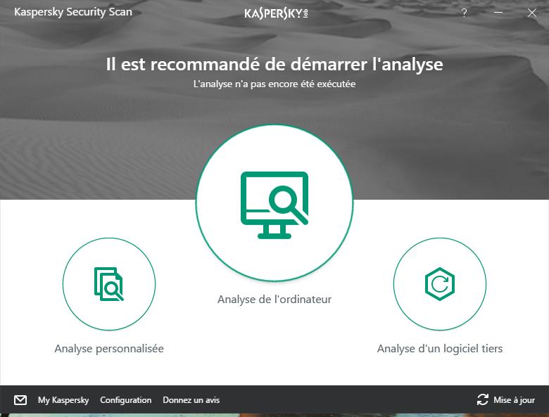 Capture d'écran Kaspersky Security Scan
