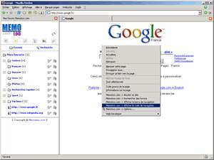 Capture d'écran Plugin Memotoo.com pour Internet Explorer
