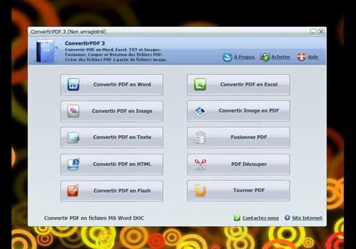 Capture d'écran Convertir PDF