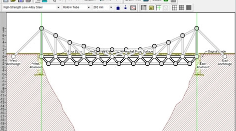 Capture d'écran West Point Bridge Designer 2016