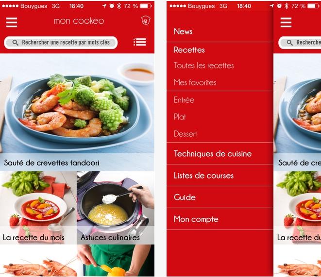 Capture d'écran Mon Cookeo iOS