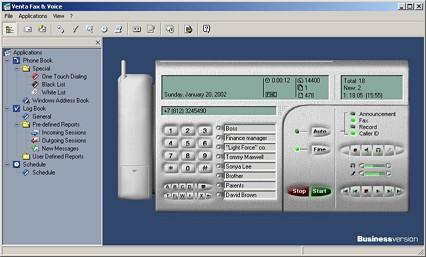 Capture d'écran VentaFax Business