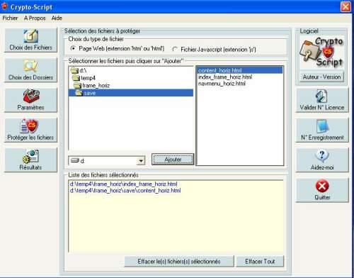 Capture d'écran CRYPTO-SCRIPT