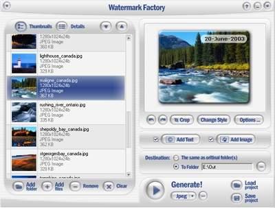 Capture d'écran Watermark Factory – advanced watermark creator