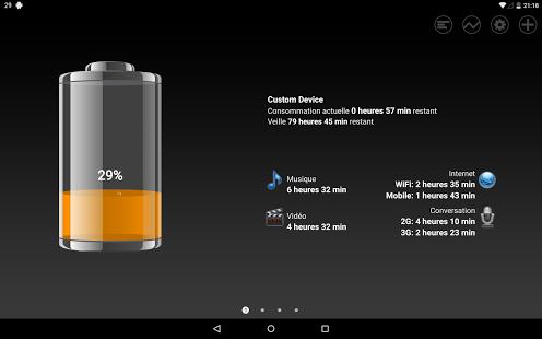 Capture d'écran Batterie HD Pro  – Battery