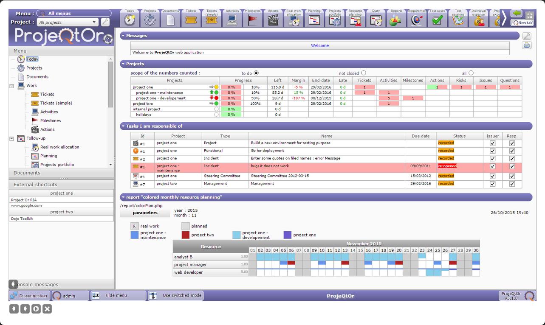 Capture d'écran ProjeQtOr