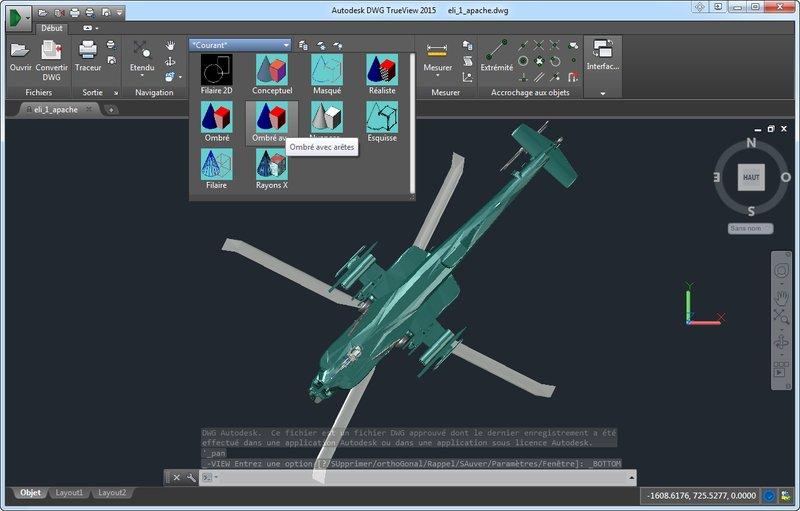 Capture d'écran DWG TrueView