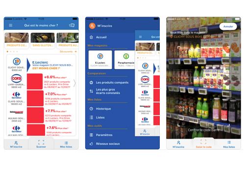 Capture d'écran Qui est le moins cher ? iOS