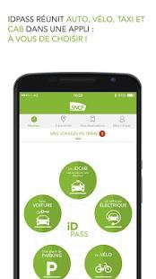 Capture d'écran IDPASS SNCF