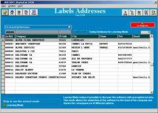 Capture d'écran Etiquette d'adresses