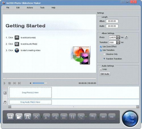 Capture d'écran ImTOO Photo en Vidéo Convertisseur