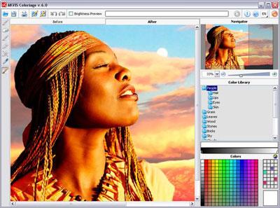 Capture d'écran AKVIS Coloriage