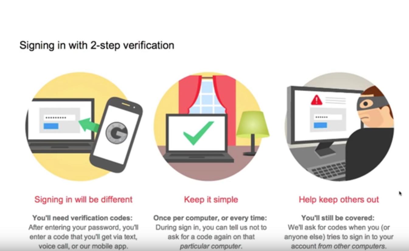 Capture d'écran Google Authenticator android