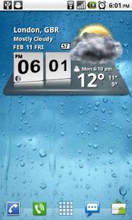 Capture d'écran 3D Digital Weather Clock