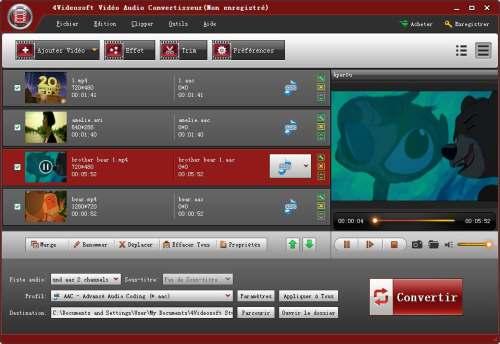 Capture d'écran 4Videosoft Vidéo Audio Convertisseur