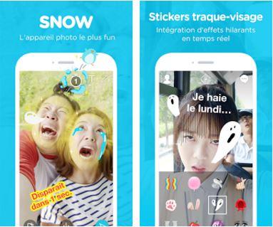 Capture d'écran Snow – Selfie, Sticker animé android