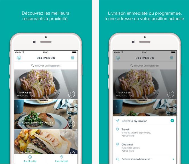 Capture d'écran Deliveroo – iOS