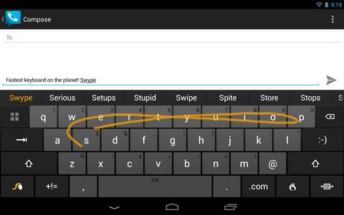 Capture d'écran Swype Android