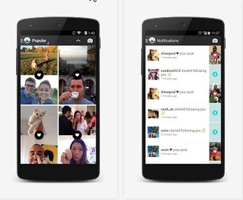 Capture d'écran Frontback Android