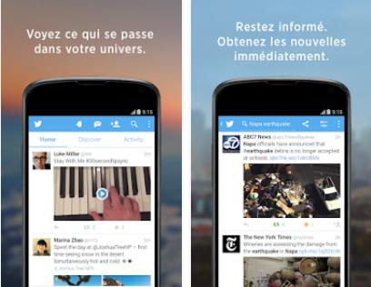 Capture d'écran Twitter iOS
