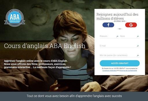Capture d'écran Cours d'Anglais ABAEnglish.com