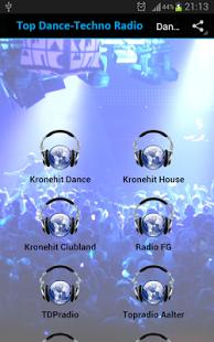 Capture d'écran Dance-Techno Online Radios