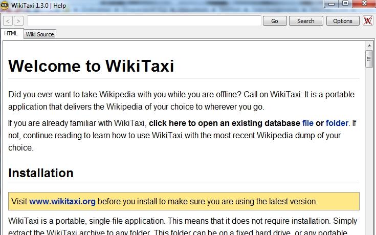 Capture d'écran Wikitaxi