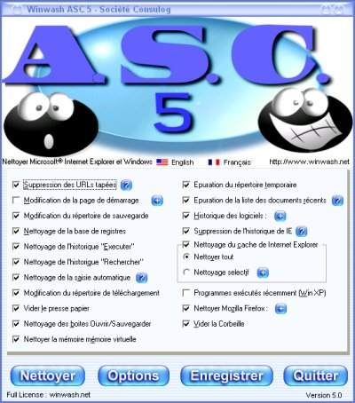 Capture d'écran A.S.C 5 surfer sans trace