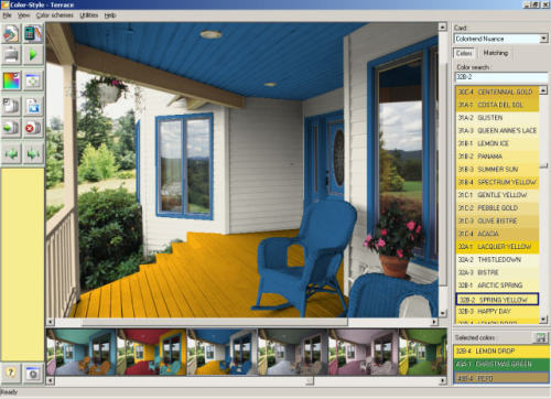 Capture d'écran Color Style Studio exterior paint colors