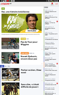 Capture d'écran L'Equipe.fr : foot, rugby, etc