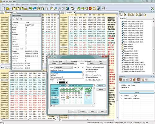 Capture d'écran Free Hex Editor Neo
