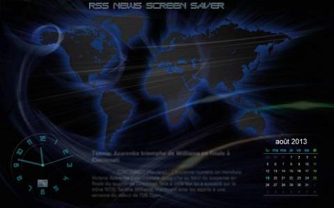 Capture d'écran RSS News Screen Saver