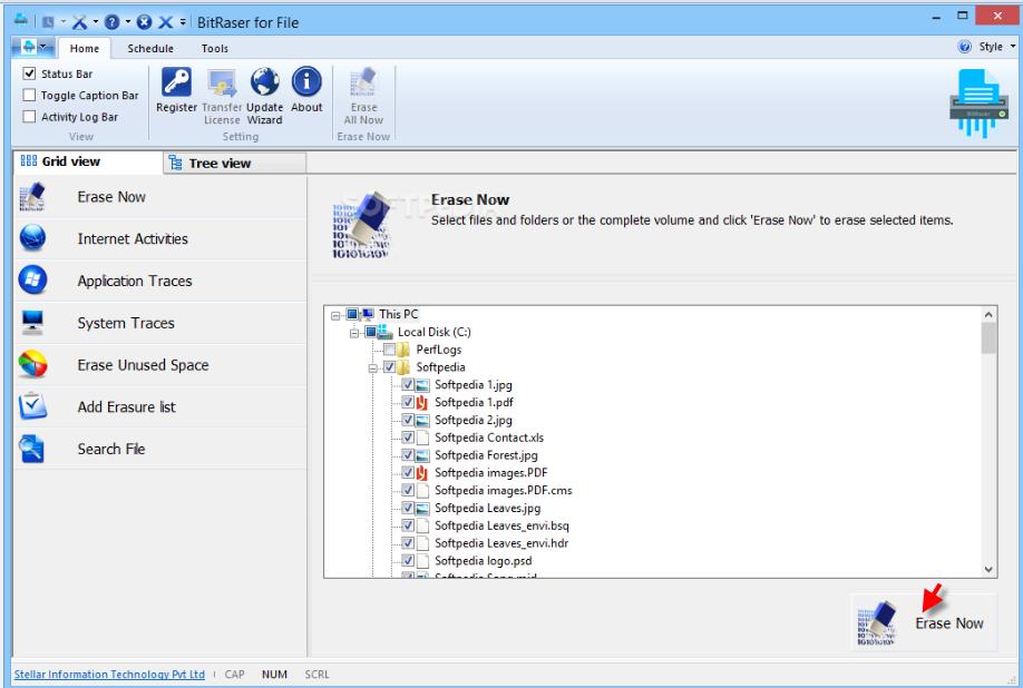 Capture d'écran Bitraser for File Software