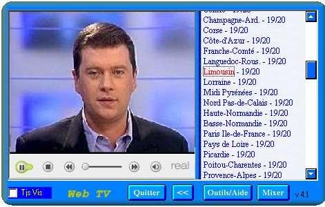 Capture d'écran Web TV