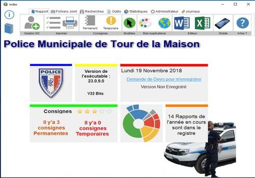 Capture d'écran Main Courante Police Municipale 3.0