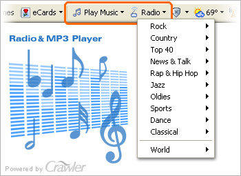 Capture d'écran Crawler Radio & MP3 Player