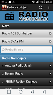 Capture d'écran Radio Narodnjaci