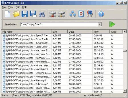 Capture d'écran LAN Search Pro
