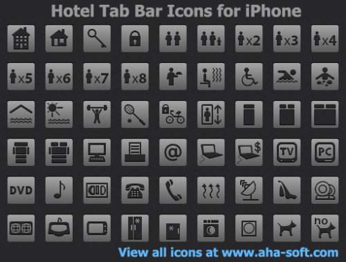 Capture d'écran Hotel Tab Bar Icons for iPhone