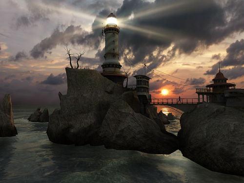 Capture d'écran Lighthouse Point 3D Screensaver