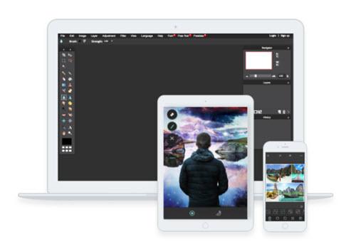 Capture d'écran Pixlr
