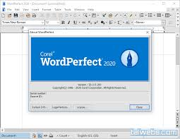 Capture d'écran Word Perfect Office X6