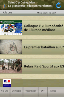 Capture d'écran Ecoles de Saint-Cyr Coëtquidan