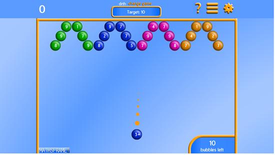 Capture d'écran Bubble Pop Number Bonds